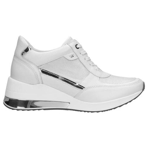 White and Gray Leather Sneakers | 4603089