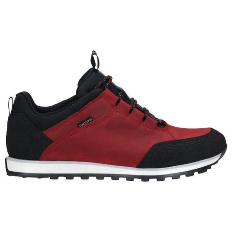 Red and Black Leather Sneakers | 4603175