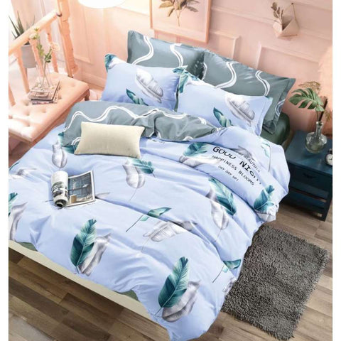 Light Blue and Gray Double-Sided Duvet Set | PME-202