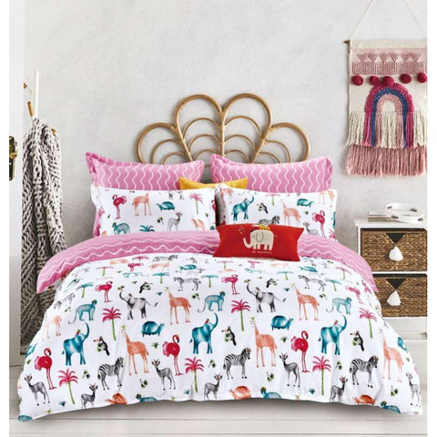 Animals Pattern Double-Sided Duvet Set | PME-223
