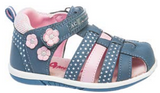 Dark Blue and Pink Sandals | 412/21-DB
