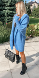 Blue Knitted Hooded Cardigan | BETI