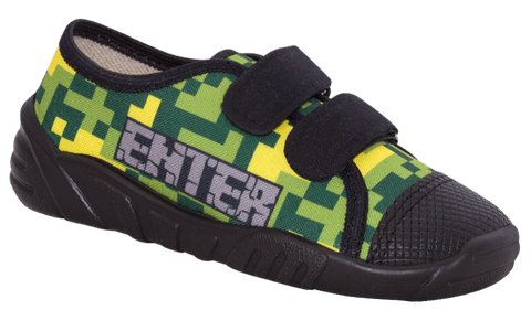 Green Graphic School Slippers | CEZAR-GR
