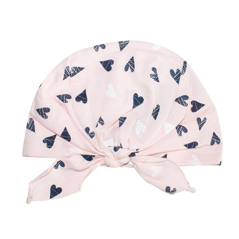 Light Pink Beanie with Tie Knot | 38/055-LP