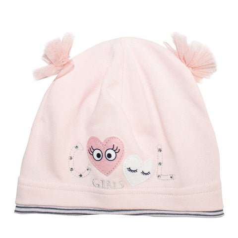 Light Pink Beanie with Bows | 40/045-LP