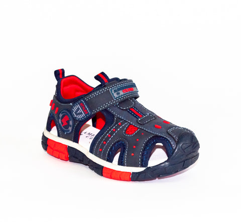 Dark Blue and Red Sandals | 399/21-DB