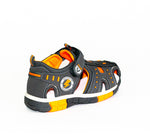 Gray and Orange Sandals | 399/21-G