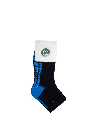 Black and Blue Socks with ABS | SK-53-BL