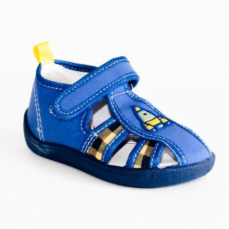 School Slippers with Rocket Print | 609/21-B