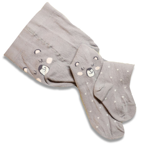Gray Baby Girl Tights | W-01-f