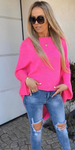 Neon Pink Knitted Sweater | SYLVIA