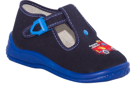 Navy Blue Graphic School Slippers | PIOTRUS-NB