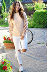Peach Bell Sleeve Sweater | GINA
