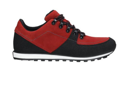 Red and Black Leather Sneakers | 1003175