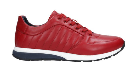 Red Leather Sneakers | 1002055