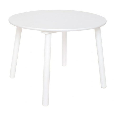 White Wooden Round Table | H13218