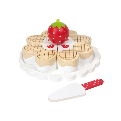 Wooden Toy Waffle Cake | T225
