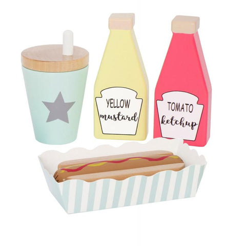 Wooden Toy Hot-Dog Set | W7145