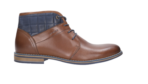 Brown and Navy Blue Winter Ankle Boots |  821372