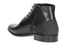 Black Leather Winter Ankle Boots | 721551