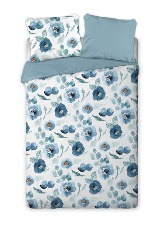 100% Cotton Double-Sided Duvet Set with Flower Pattern | FAR-010