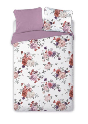 100% Cotton Double-Sided Duvet Set with Flower Pattern | FAR-011