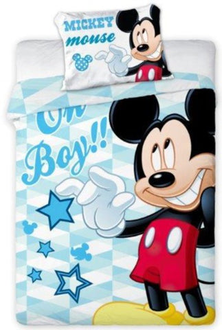 100% Cotton Blue Duvet Set with Mickey Mouse Print | FAR-004