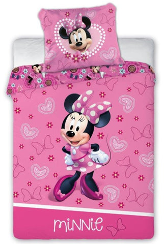 100% Cotton Pink Duvet Set with Minnie Mouse Print | FAR-007