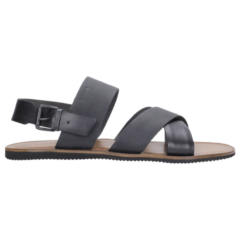 Black Leather Sandals | 830451