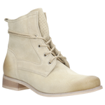 Beige Leather Ankle Boots | 6400064
