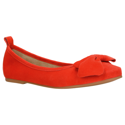 Red Leather Ballet Flats | 4400765