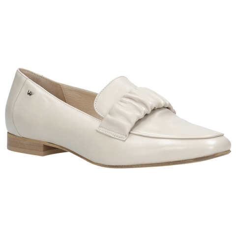 Beige Leather Loafers | 4600754
