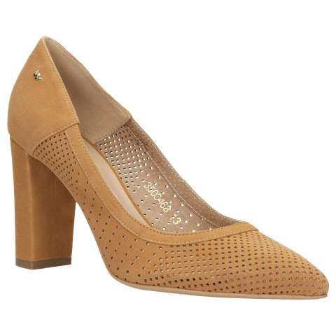 Light Brown Leather High Heels | 3503463