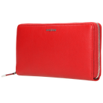Red Leather Zip Around Wallet | 793655