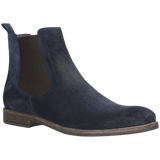 Navy Blue Leather Ankle Boots | 913166