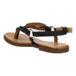 Black Leather Sandals | 7606151