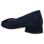 Dark Blue Leather Heels | 3506966