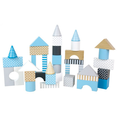 Blue Wooden Building Blocks | W7086