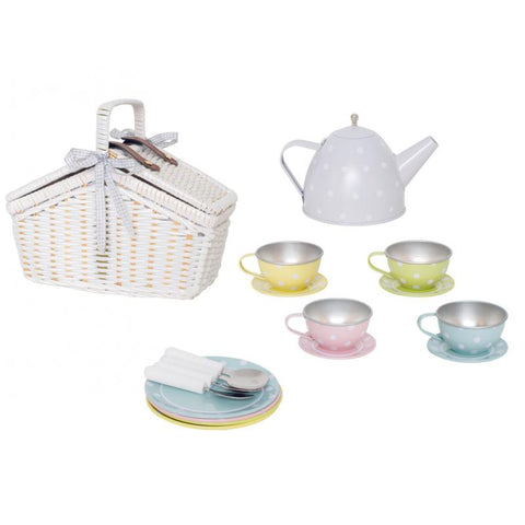 Toy Picnic Basket with Tea Set | G12017