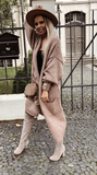 Light Brown Fuzzy Knitted Cardigan | MIA