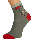 Gray Women's Socks Love You | D-018-G