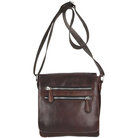Dark Brown Leather Shoulder Tote Messenger Bag | 687652