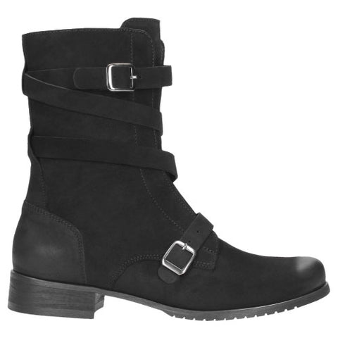 Black Leather Heeled Boots | 857821