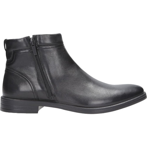 Black Leather Winter Ankle Boots | 816151