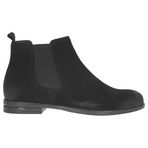 Black Velour Leather Boots | 950321