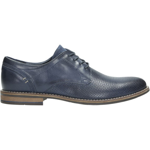 Navy Blue Leather Oxfords | 900776