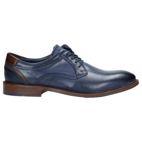 Navy Blue Leather Shoes | 907156