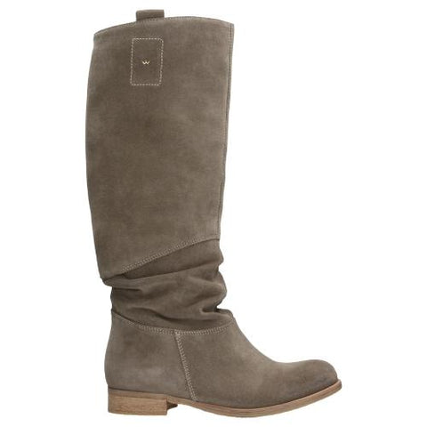Beige Leather Knee High Boots | 968064
