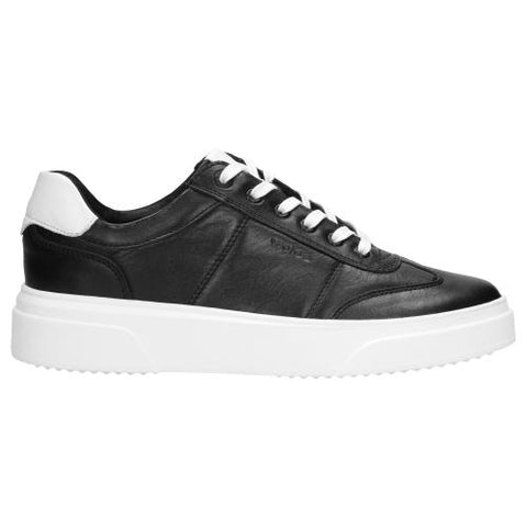 Black Leather Sneakers | 920051-W