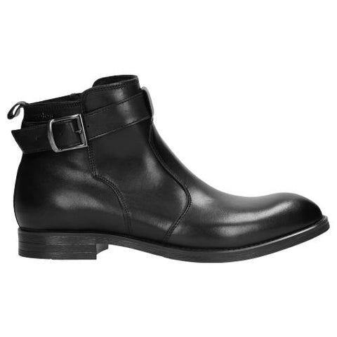 Black Leather Winter Ankle Boots | 913951